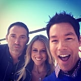Josh Temple, Nicole Curtis, and David Bromstad