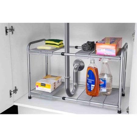 Home Basics 2-Tier Cabinet Organizer