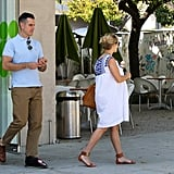 Reese Witherspoon and Jim Toth at Pinkberry.
