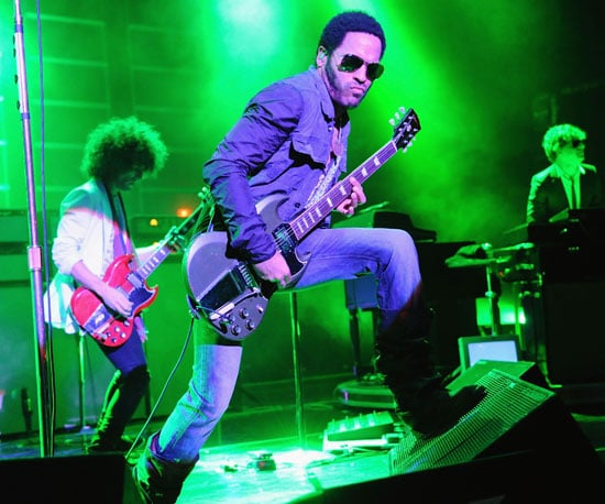 Photo Slide of Lenny Kravitz Performing at London's Brixton Academy