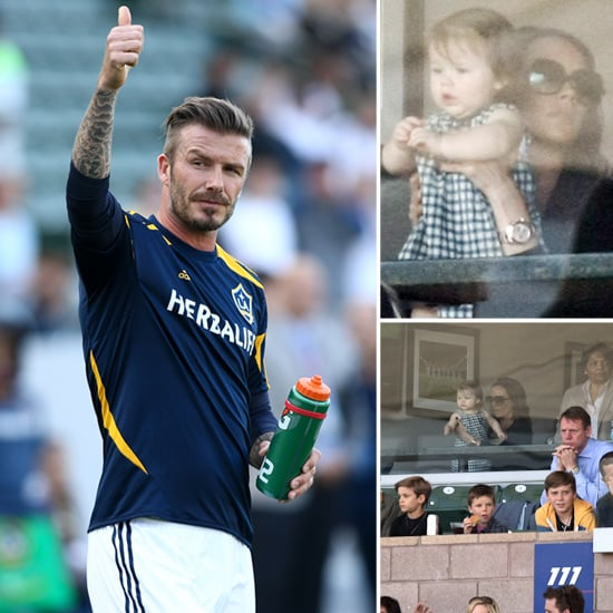 Victoria, Harper, and the Beckham Boys Cheer on Their Guy David
