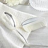 Personalised Silver Brush & Comb Set