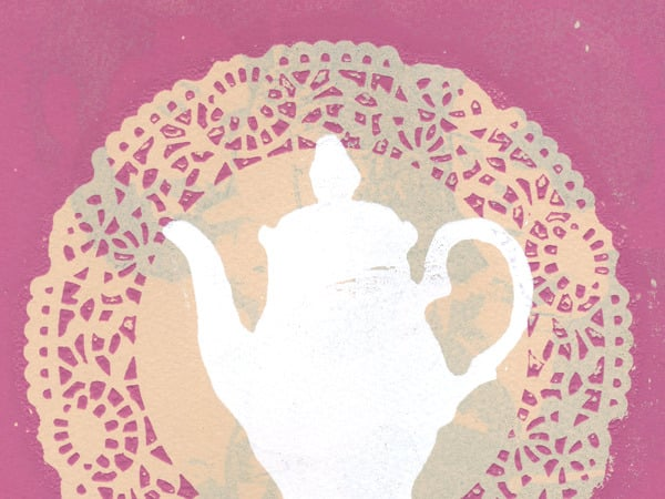 If Earl Gray is your favorite companion, then the girlish Tea For Me Silkscreen ($6) might be your cup of tea.