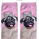 Pug Glitter Socks