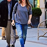 On Thursday, Jennifer Garner flashed a smile while running errands in NYC.