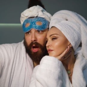 Madonna and The Fat Jewish MDNA Skincare Chrome Mask
