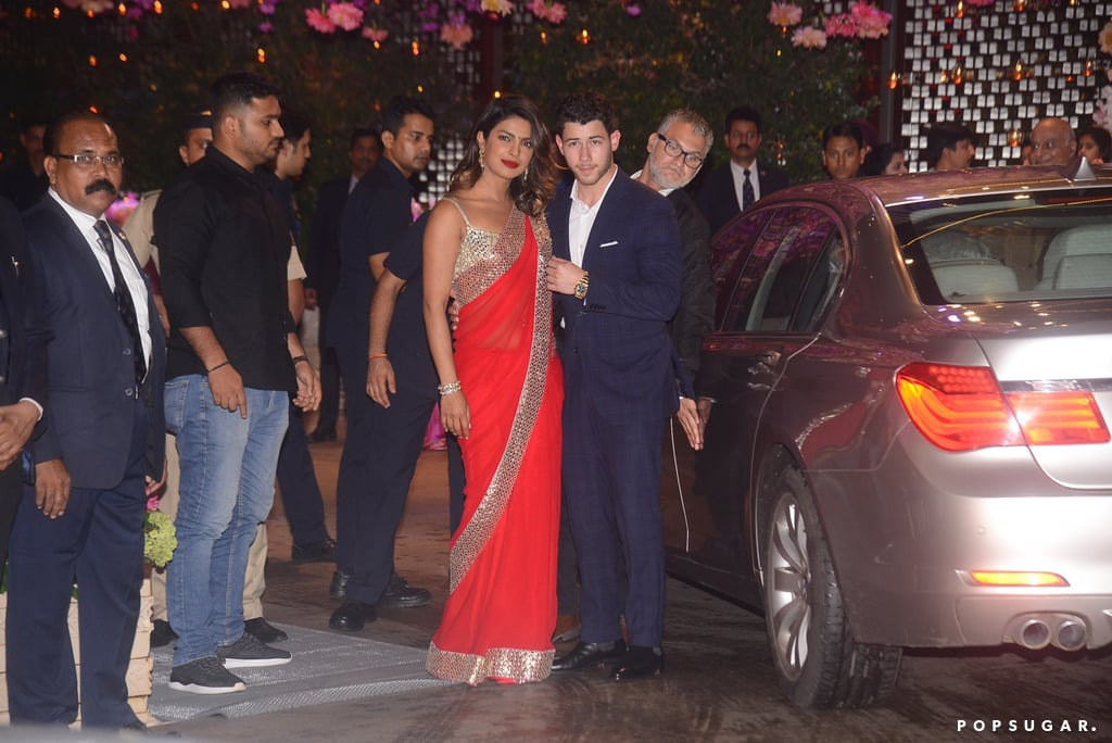 Nick Jonas and Priyanka Chopra at a Party in India June 2018