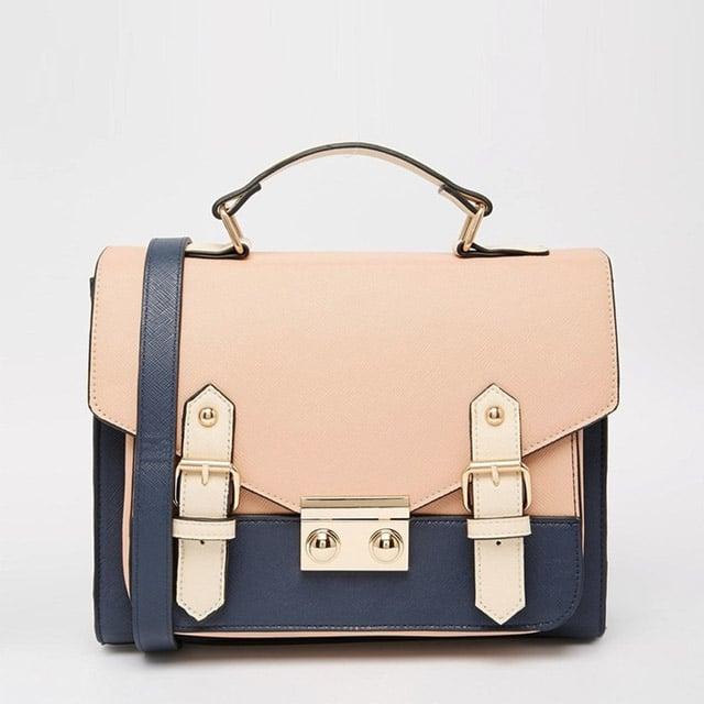 Asos Collection 'Blocked' Satchel Handbag ($38)