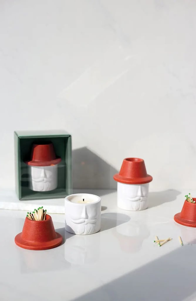 Paddywax Mr. Kringle Candle & Match Holder