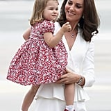 Princess Charlotte Arrives in Poland With Kate Middleton on July 17, 2017