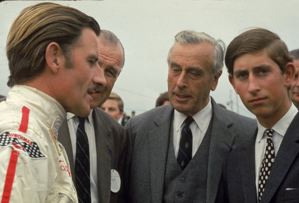 Prince Charles and Lord Mountbatten at a Race in 1970
