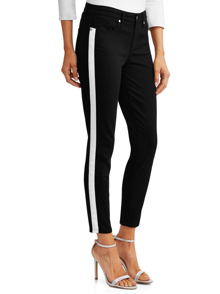 Sofía Skinny Side Stripe Mid Rise Ankle Jean