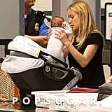 Kristin Cavallari traveled with little Camden Cutler.