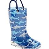 Deep Sea Sharks Light-Up Rain Boot