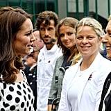 Kate with Kim Clijsters and Martina Navratilova