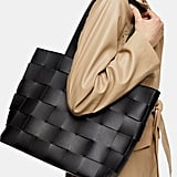 Topshop Basket Weave Faux Leather Tote