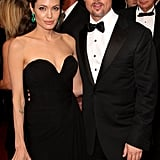 Brad and Angelina made a picture-perfect couple on the Oscars red carpet in February 2009.