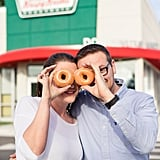 This Couple Literally Had the Sweetest Engagement Shoot — at Krispy Kreme