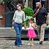 Katie Holmes and Suri Cruise brunched at NYC's Pastis together Sunday.