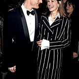 She smiled in a black and white striped suit at the New York Film Festival in 1993 with then-husband Lyle Lovett.