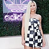 Kylie Jenner With Sleek Extra-Long Blond Hair in 2018