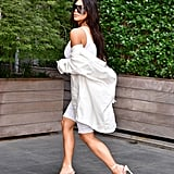 Kim Kardashian Wearing Bermuda Shorts