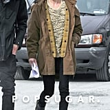 Kate Bosworth showed off her new red hair on the set of Almost Alice on Tuesday in NYC.