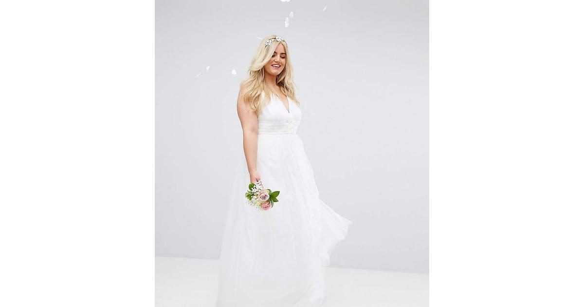Cheap Black N White Wedding Dresses: ASOS Bridal Tulle Maxi Prom Dress
