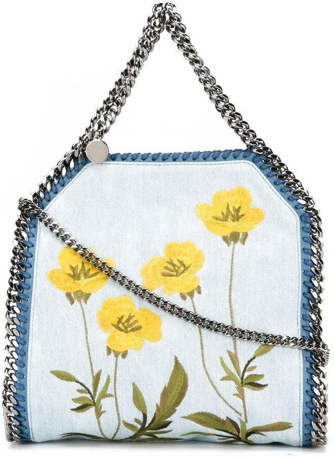 Stella McCartney 'Falabella' floral denim tote ($1,100)