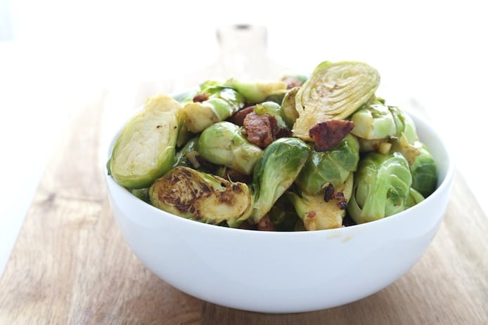 Chorizo Lemon Garlic Brussels Sprouts