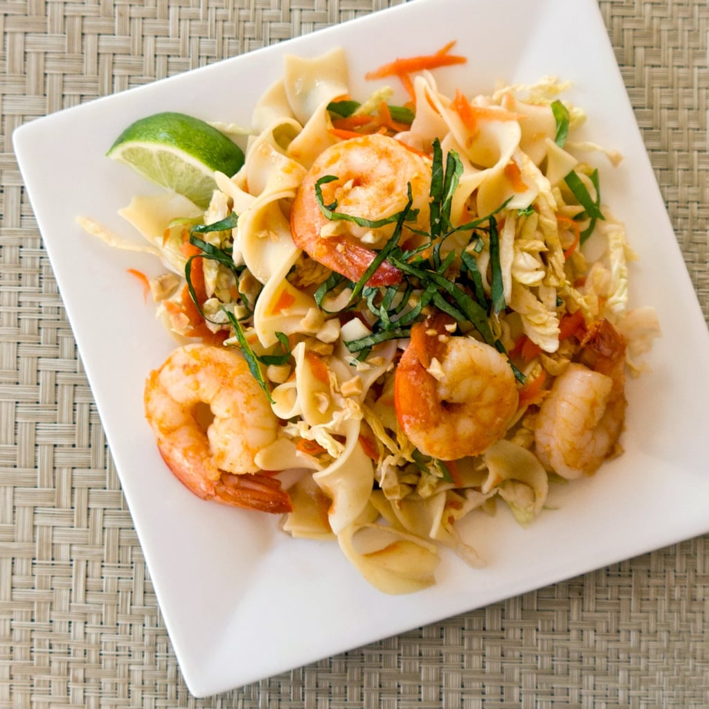 Ginger Garlic Shrimp With Noodles