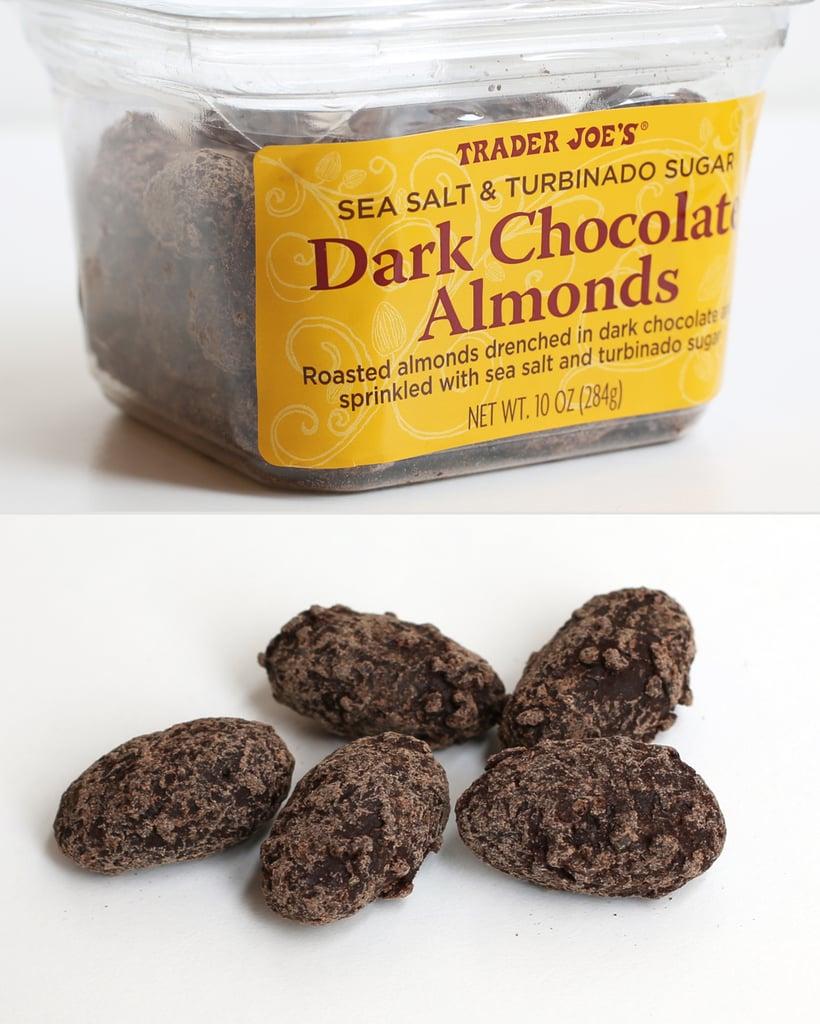 Trader Joe's Sea Salt and Turbinado Sugar Dark Chocolate Almonds ($4)
