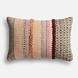 Pier 1 Imports Magnolia Home Norma Pink & Beige Lumbar Pillow
