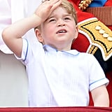 Prince George at Trooping the Colour in 2016 Wearing the Same Shirt His Father Wore to Prince Harry's Christening