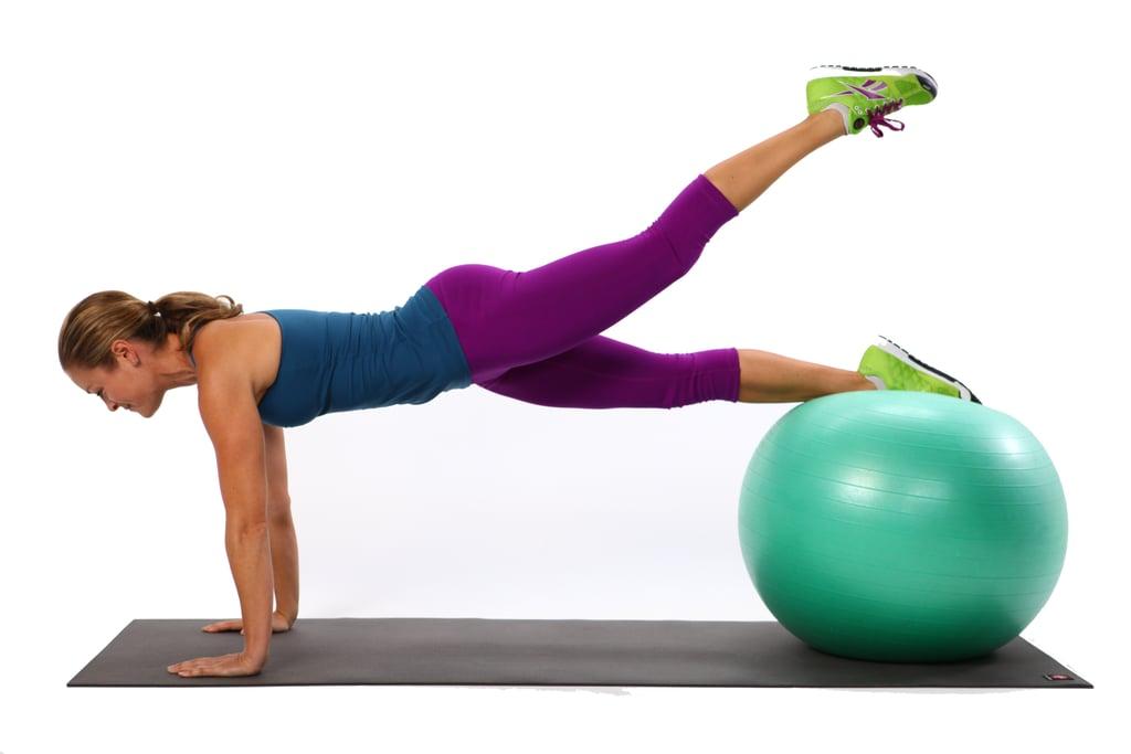 Plank Leg Lifts: 10 Reps