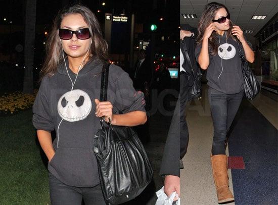 Mila Kunis Is Back (in LA) in Black