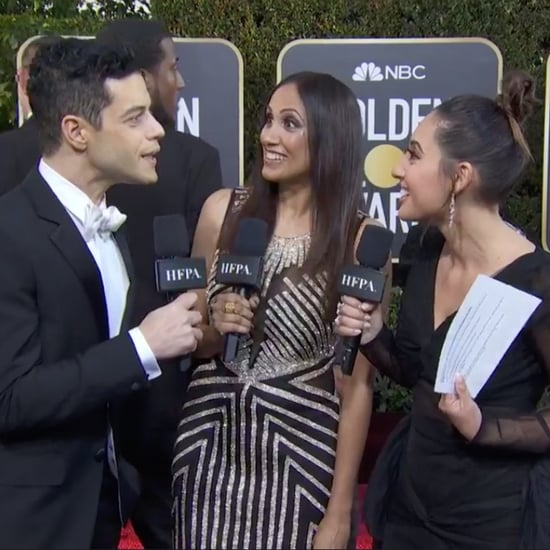 Rami Malek and Francia Raisa at the 2019 Golden Globes
