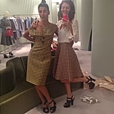 The Battaglia sisters are never too busy for a shopping trip to Prada. Source: Instagram user sara_battaglia