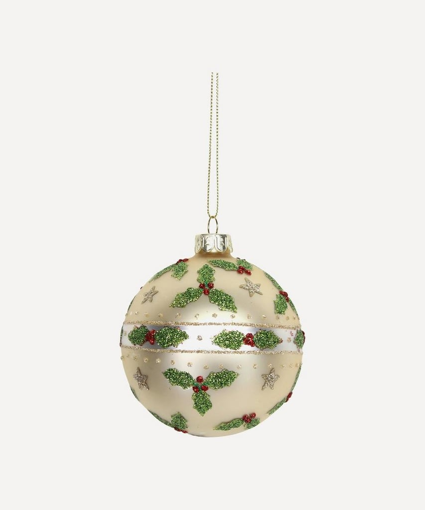 Liberty London Glitter Holly Stars Bauble