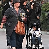 Sandra Bullock spent the day at Disneyland with her son Louis and Melissa McCarthy.