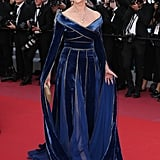 Helen wore a gorgeous Elie Saab gown on the Cannes Film Festival red carpet.