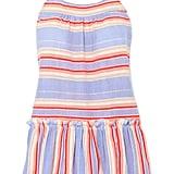 LemLem Fiesta Ruffled Striped Cotton-Blend Gauze Minidress