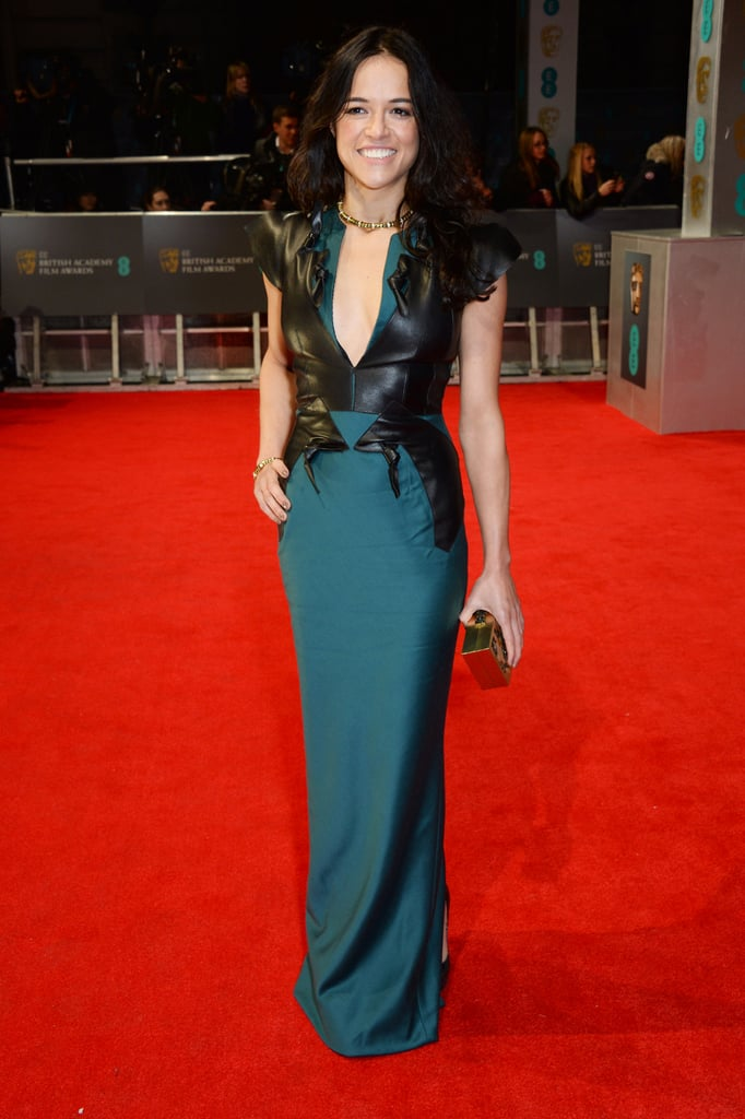 Michelle Rodriguez on the 2014 BAFTA Red Carpet