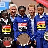 Prince Harry at the London Marathon Pictures April 2019
