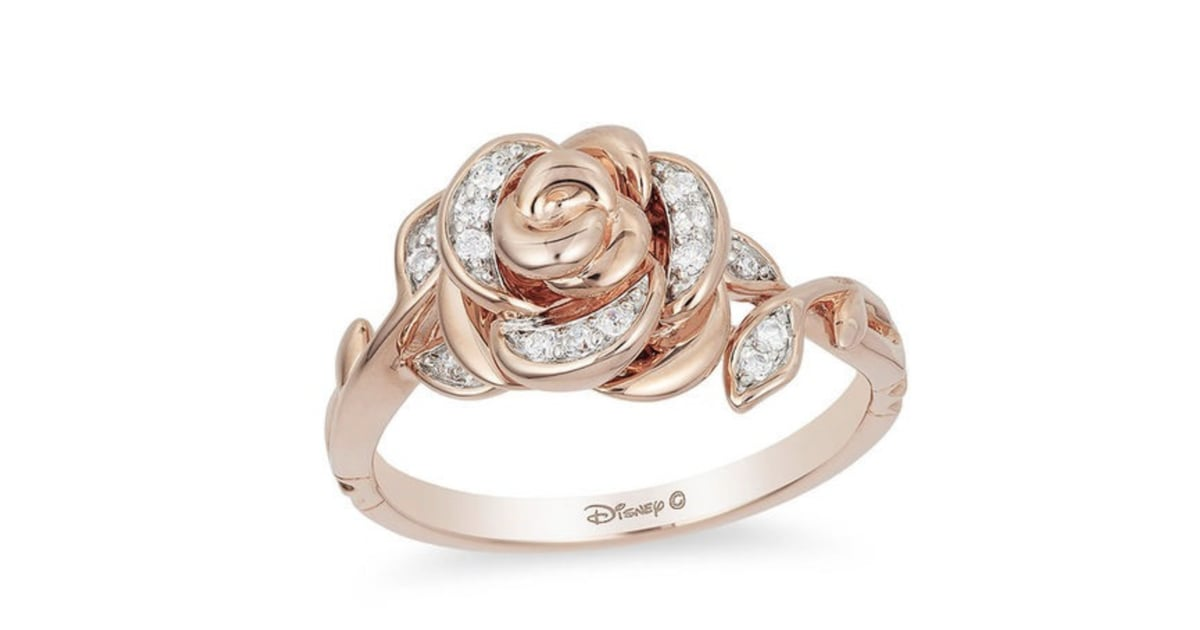Enchanted Belle Diamond Rose Gold Rose Ring Zales Disney