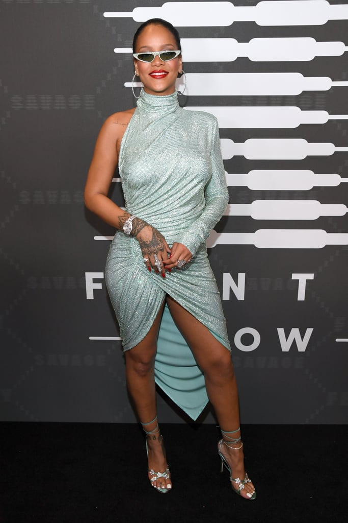 Rihanna's Blue Dress at Savage x Fenty Show