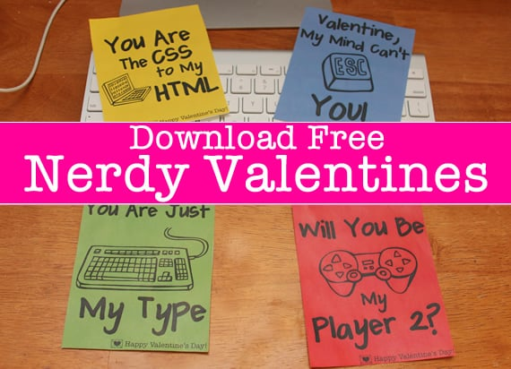 nerdy valentine 39 s printables valentine 39 s day free printable cards popsugar smart living photo 24. Black Bedroom Furniture Sets. Home Design Ideas