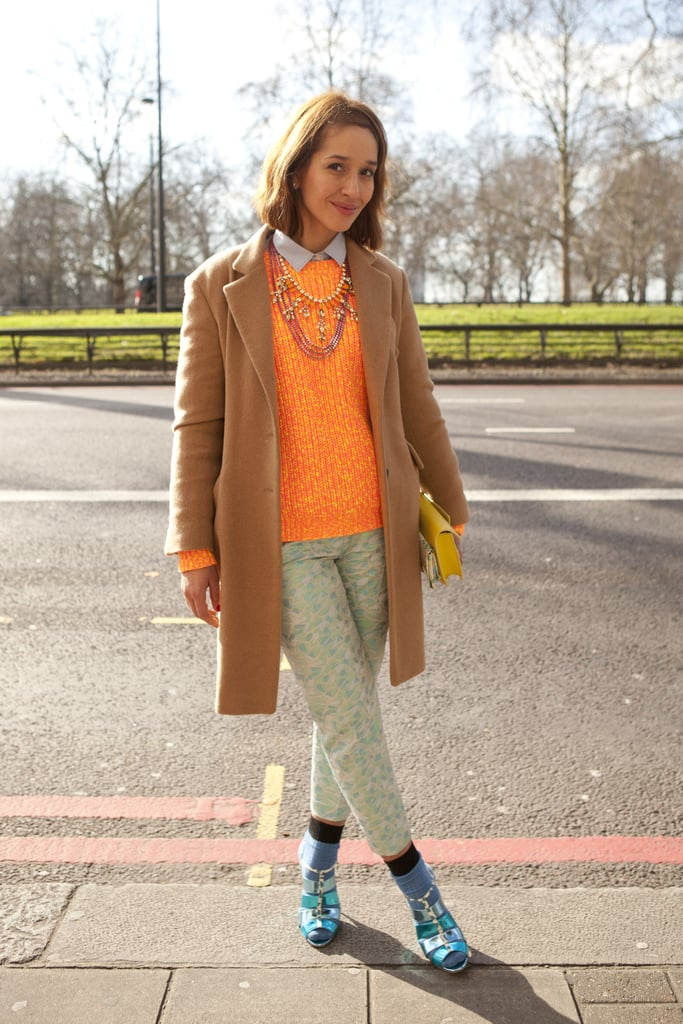 Bright knits and metallic kicks added up to show-worthy style.