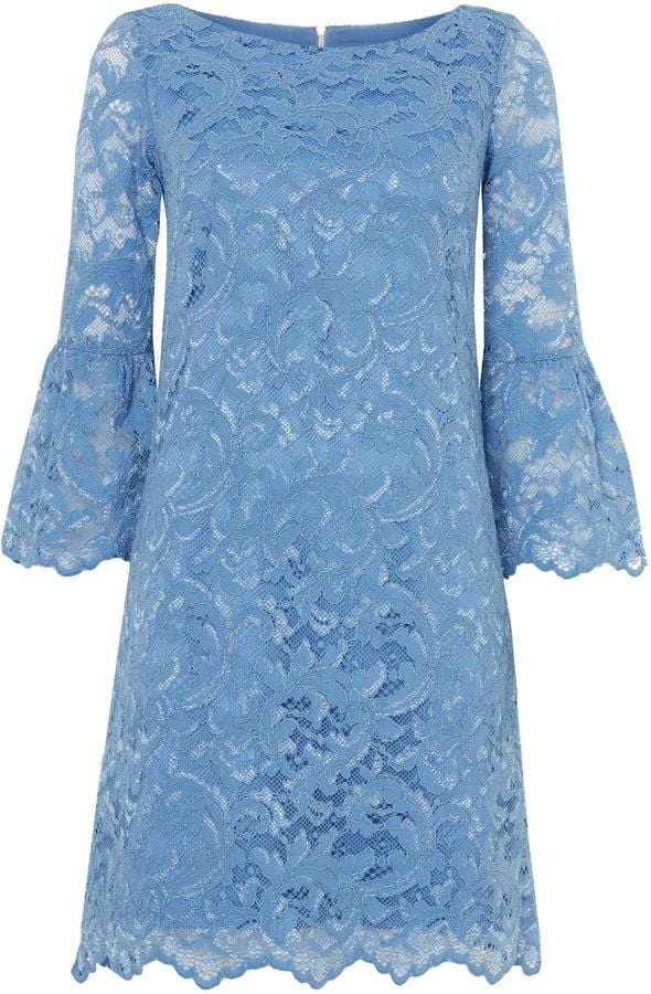 Eliza J Bell Sleeved Blue Lace Dress