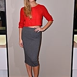 Brooklyn Decker showed off her figure in this Express stretch knit pencil skirt ($40) while hosting the opening of the brand's store in San Francisco's Union Square district.